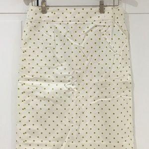 J. Crew Polka Dot Pencil Skirt